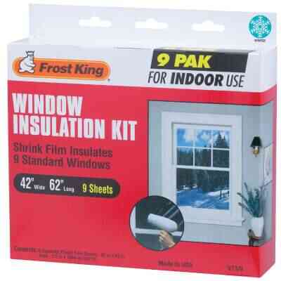 Frost King 42 In. x 62 In. Indoor Shrink Film Window Kit, (9-Pack)