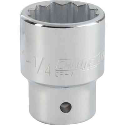 Channellock 3/4 In. Drive 1-1/4 In. 12-Point Shallow Standard Socket