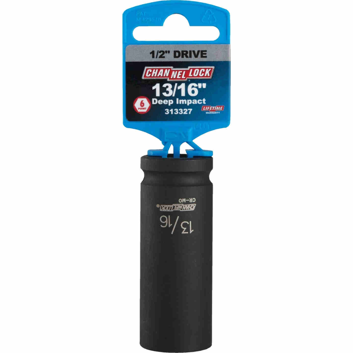 Channellock 1/2 In. Drive 13/16 In. 6-Point Deep Standard Impact Socket Image 2