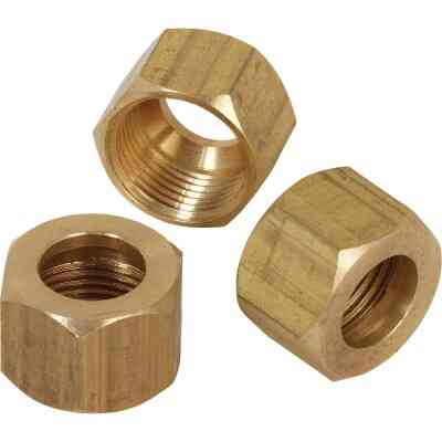 Do it 1/2 In. OD Brass Compression Nut (2-Pack)