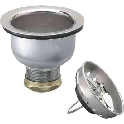 Keeney 3-1/2 In. to 4 In. Stainless Steel Clip Closure Basket Strainer Assembly