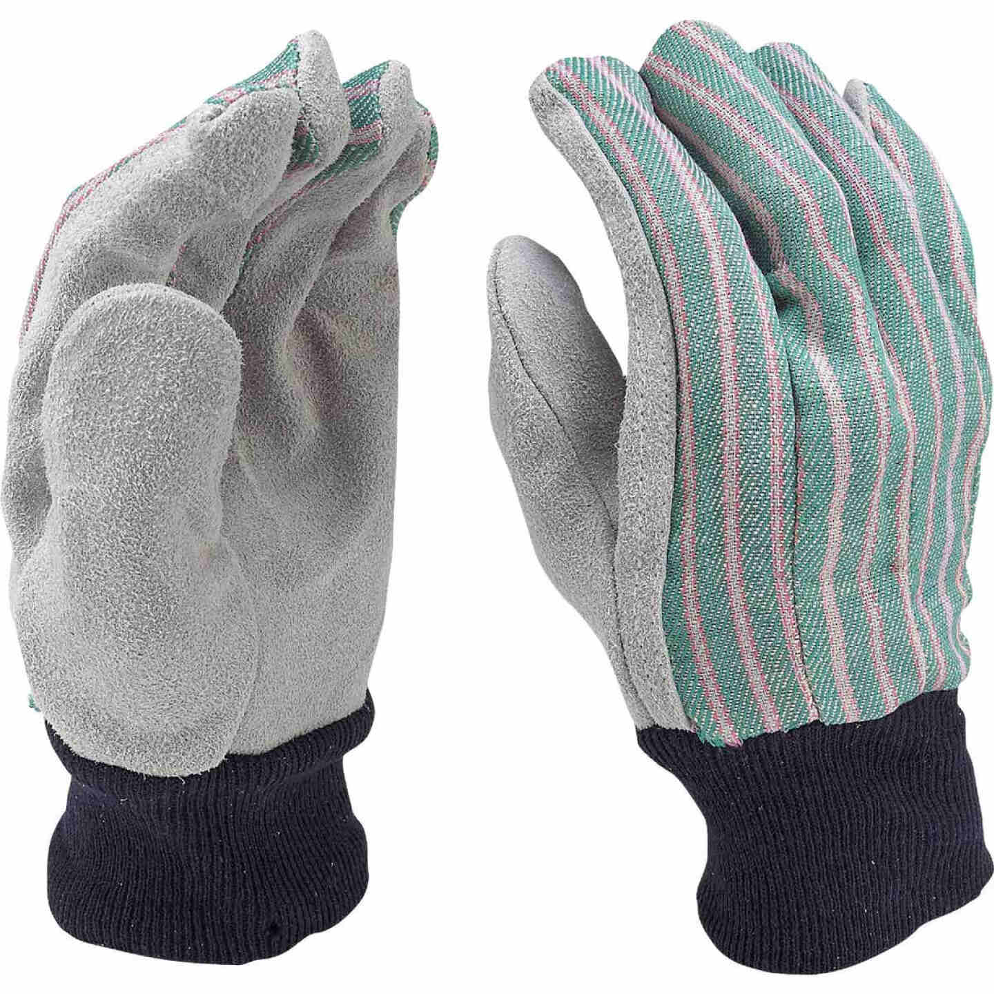 Do it Men's Large Cotton Canvas Leather Palm Work Glove Image 3