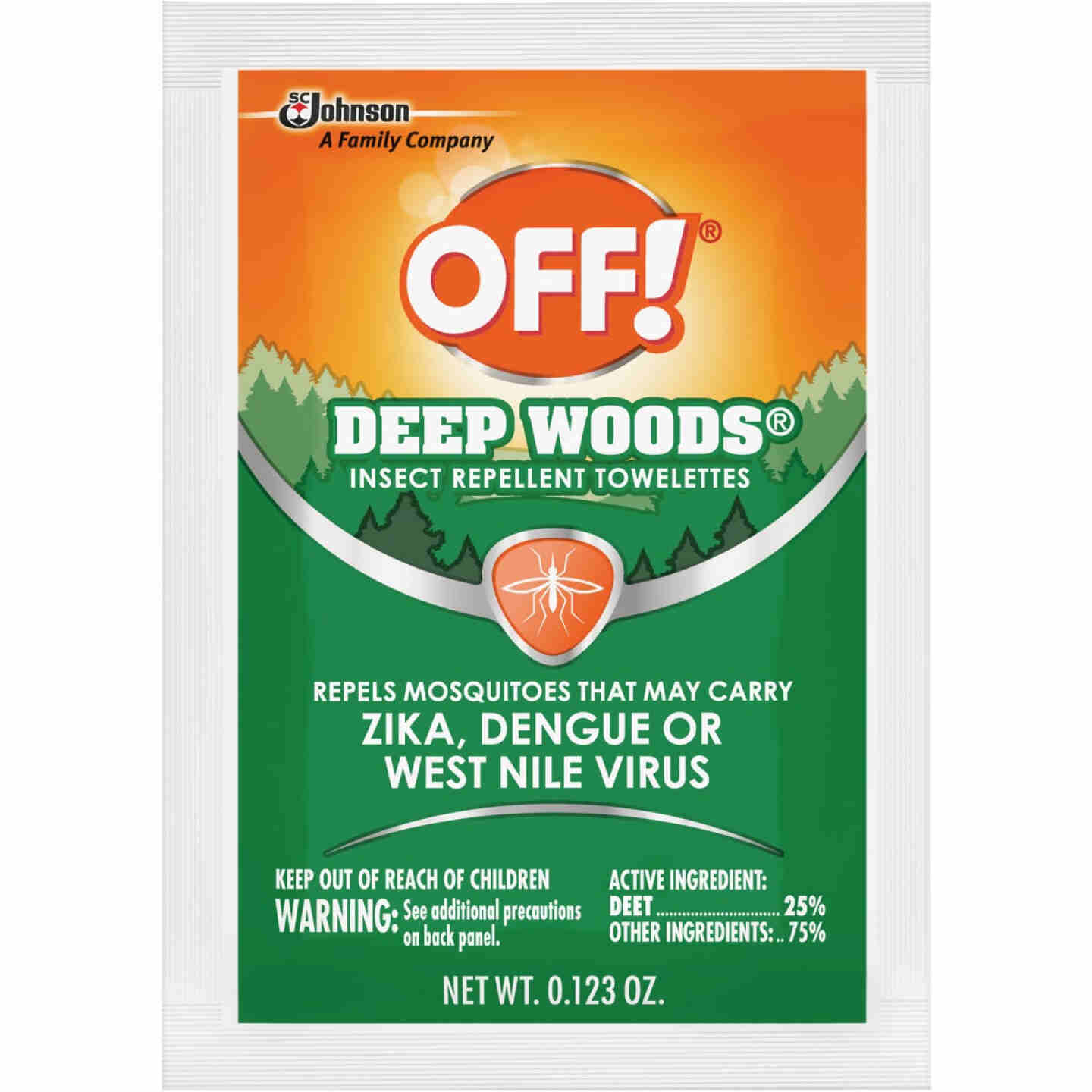 Deep Woods Off 12-Count Insect Repellent Towelettes Image 1