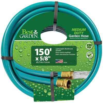 Flexon 5/8 In. Dia. x 150 Ft. L. Medium-Duty Rubber & Vinyl Garden Hose W/Guard-N-Grip