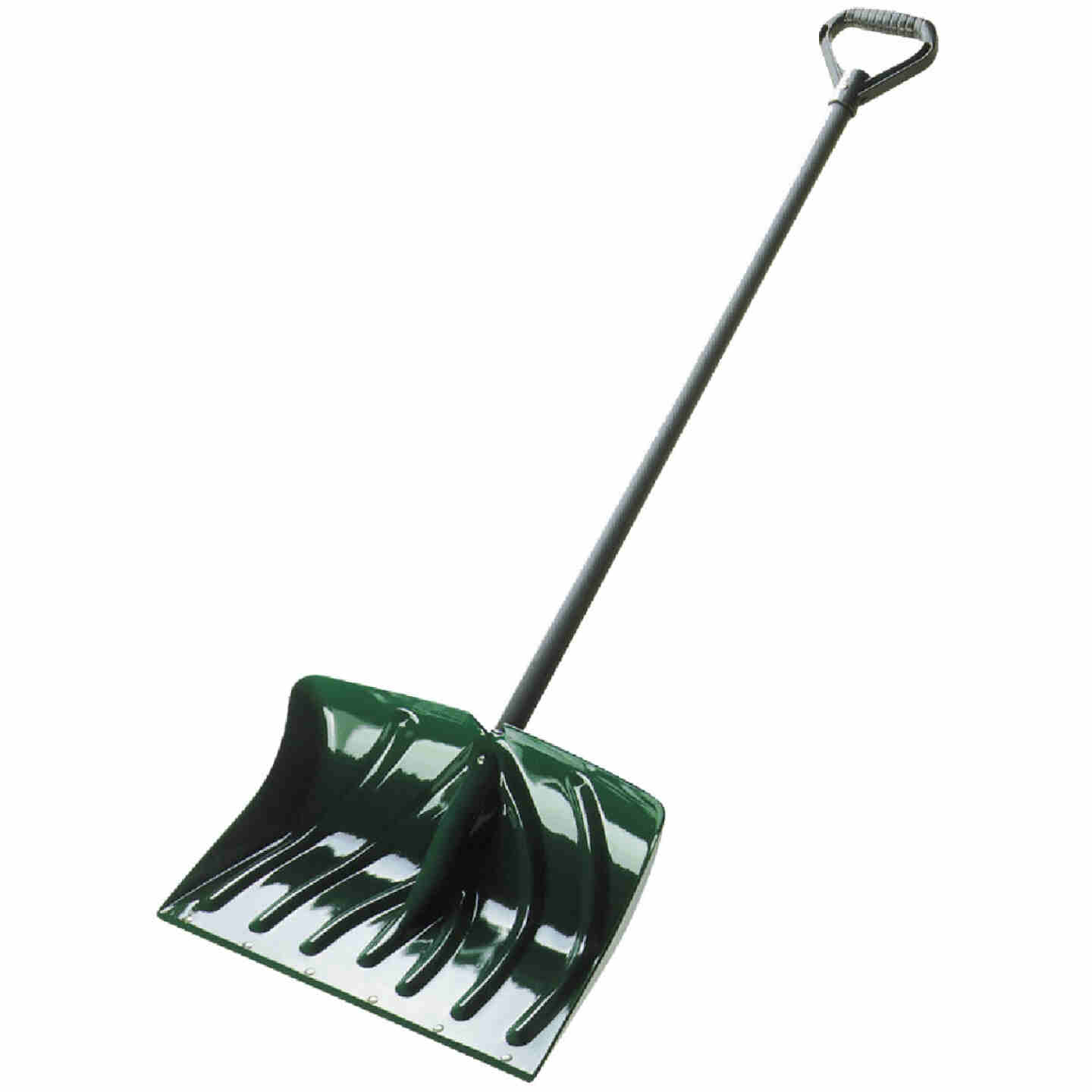 Suncast 18 In. Poly Snow Shovel & Pusher with 39 In. Steel Handle Image 1