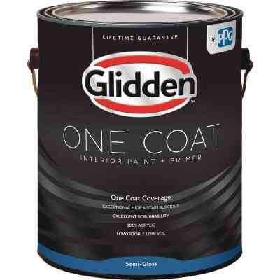 Glidden One Coat Interior Paint + Primer Semi-Gloss Ultra Deep Base 1 Gallon